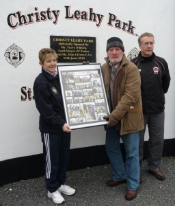 Christy being honoured by the Kerry ISRS