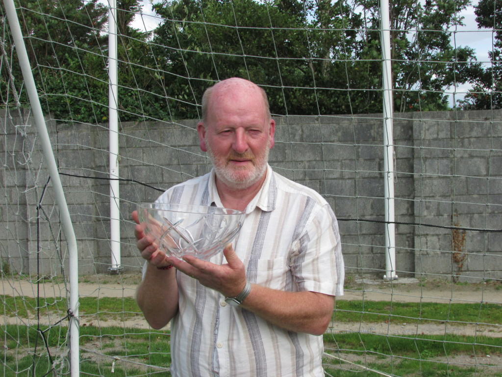 Christy Leahy with his FAI Award