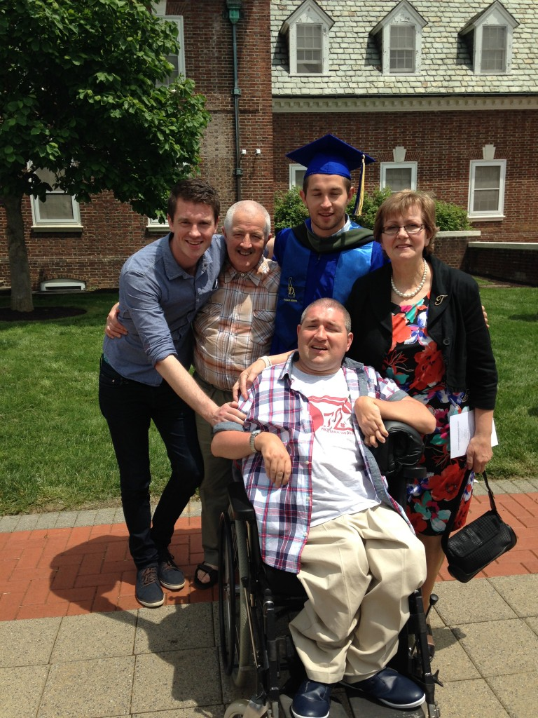 John and Family at his Graduation