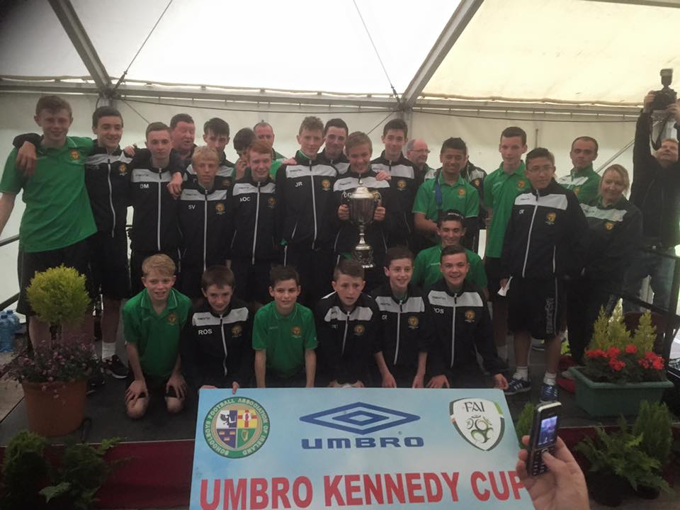 The Kennedy Cup Squad at Friday nights Homecoming in Tralee