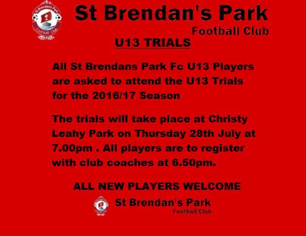 u13 Trials