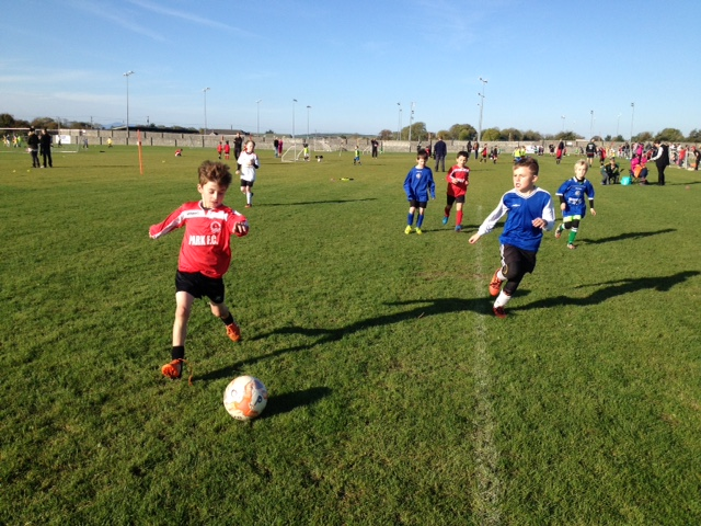 Tadhg Falvey in action for the U8's against LB Rovers