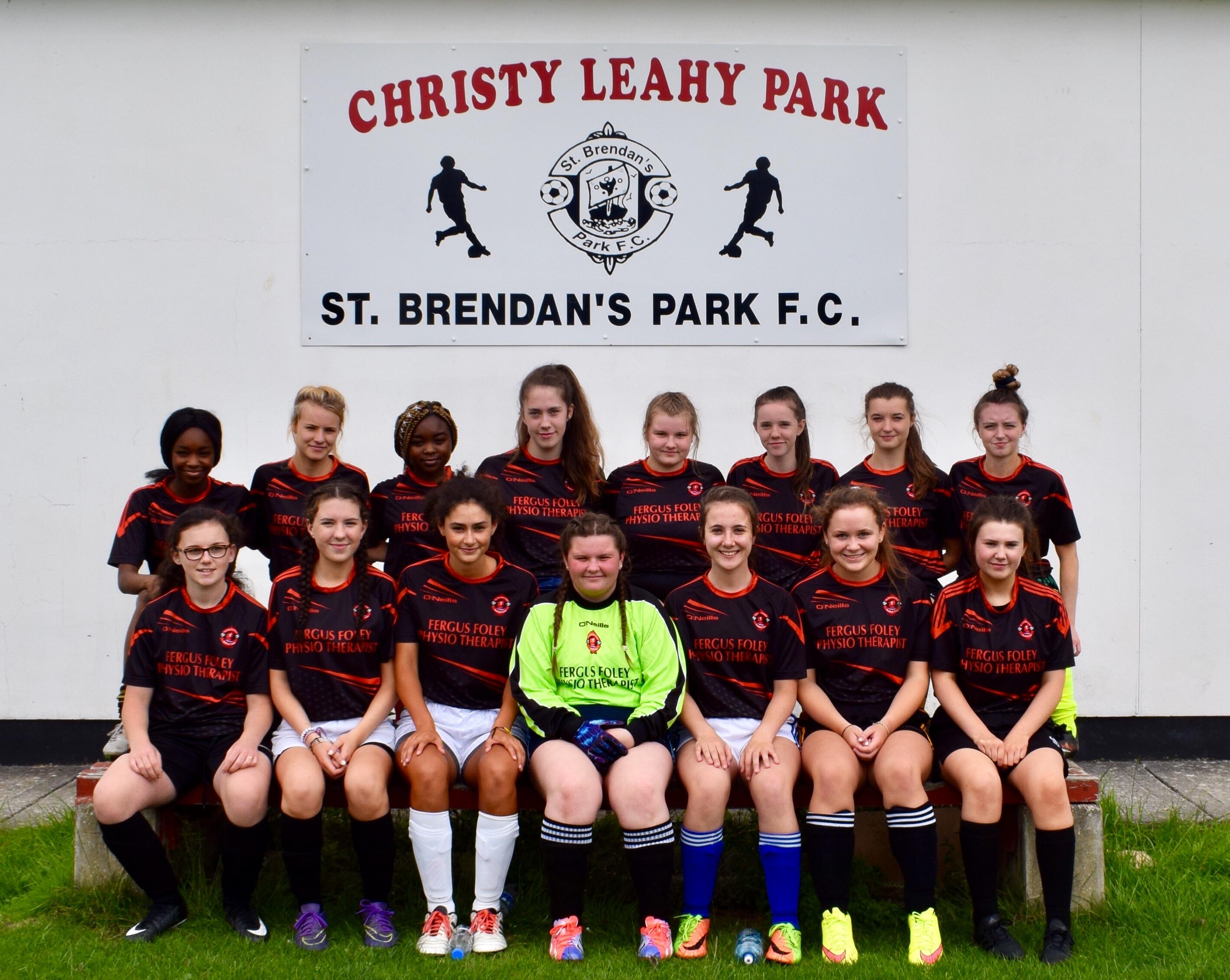 d1ed2af4d40 St. Brendan s Park FC ladies team 2018