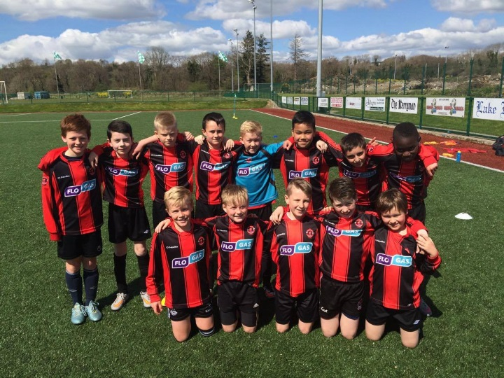 Park Fc U12c team before they defeated Killarney Celtic on Saturday April 23rd 2016