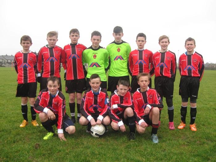 Park Fc U13A team before their U13 John Joe Naughton Cup game against Killlarney Athletic on Saturday 20th February .