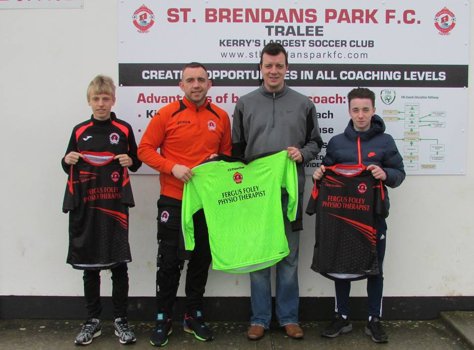 Park fc u15 presented with new jerseys from Fergus Foley on Saturday 06th February