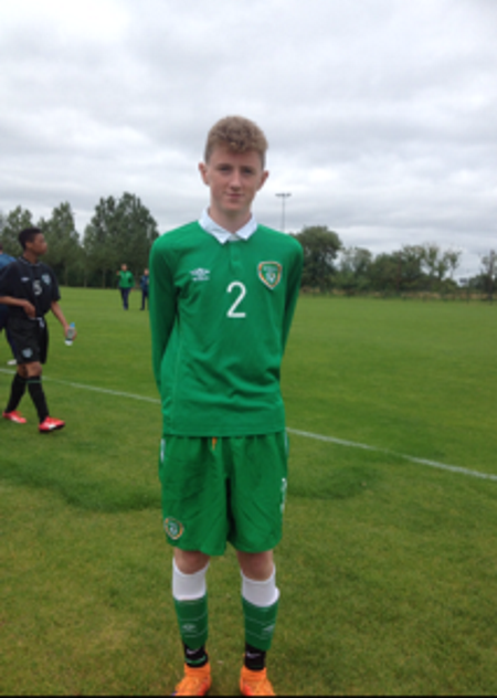 Park Fc U15 Player James Rusk at his Rep or Ireland Assessment day in Dublin on Sunday 6th September 2015