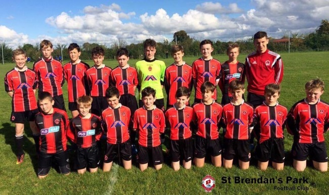 Park Fc U14A team before their SFAI Cup game in Tipperary on Saturday 15th October 2016