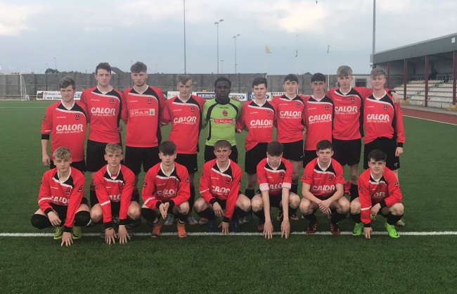 St Brendans Park Youths before the Jimmy Falvey Memorial Youth Cup Final on Saturday 6th May 2017