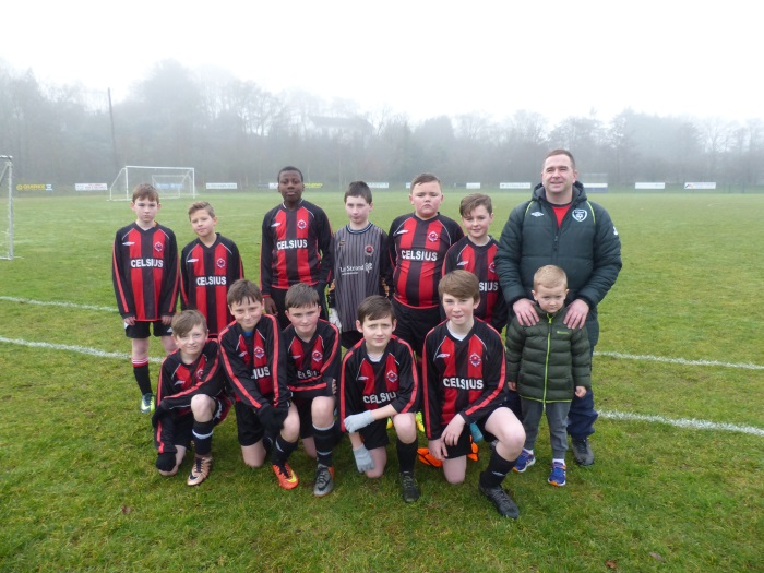 St Brendans Park Fc U12B squad before they faced Killarney Athletic on Saturday 7th January 2017