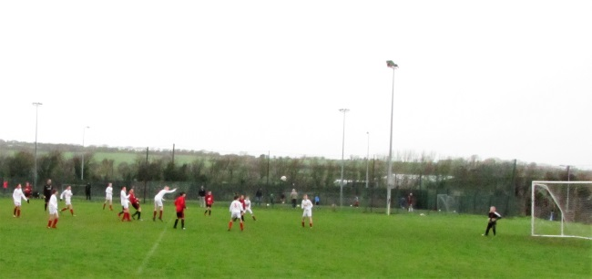 Kieran O'Connor opens the scoring with a 20 yard cracker